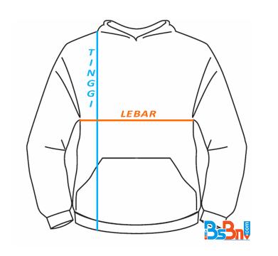 ukuran hoodie lengkap