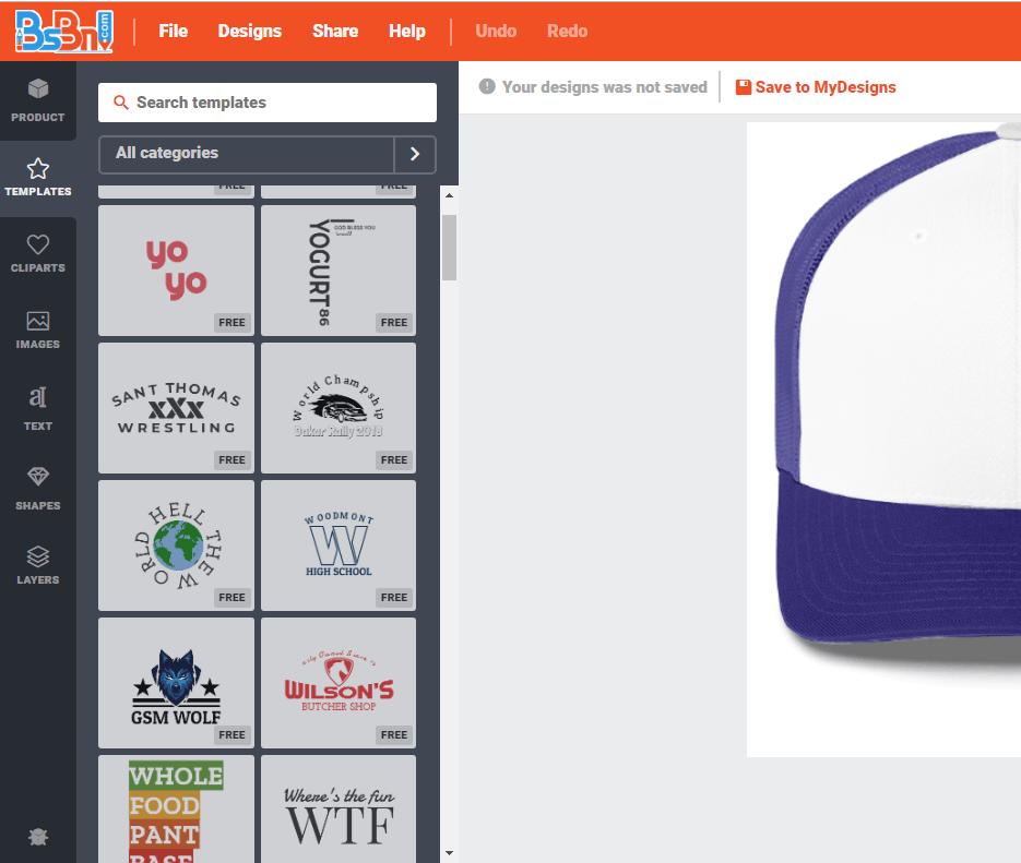 template desain topi