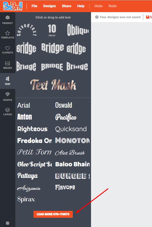 text free desain text terbaik