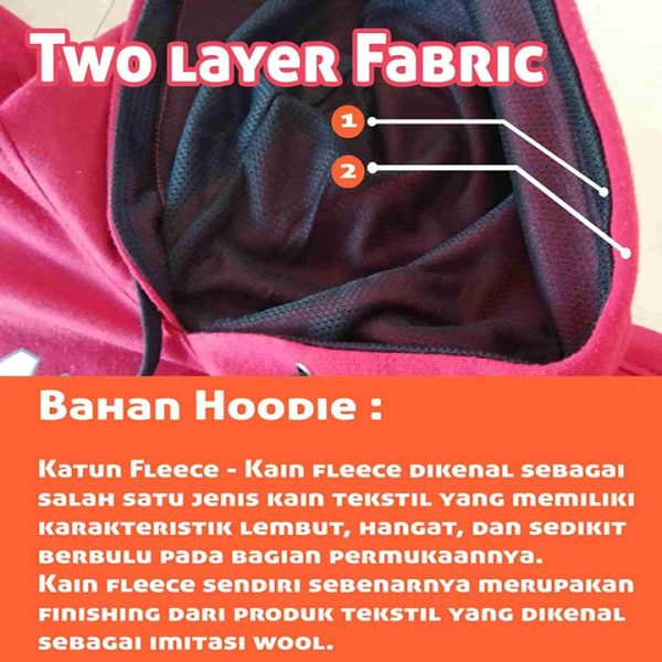 bahan hoodie 2 ply / dua lapis