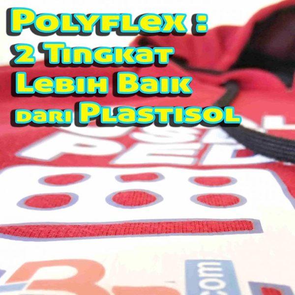 sablon jenis polyflex pada hoodie