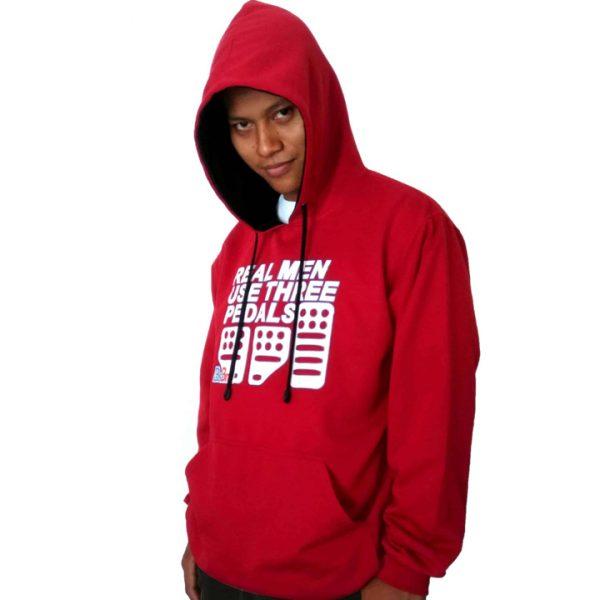 model hoodie custom warna merah maroon