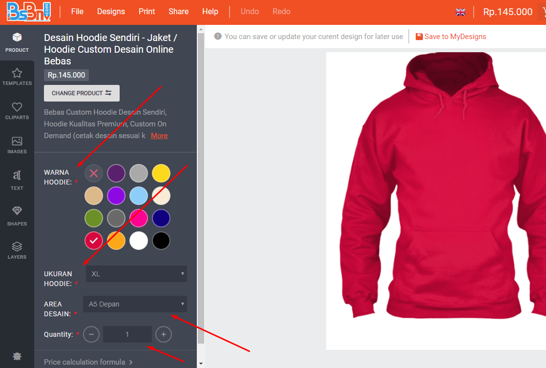 Cara Desain Hoodie Sendiri Online
