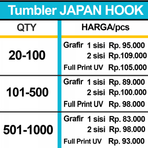 TUMBLER JAPAN HOOK HARGA