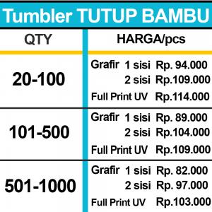 TUMBLER TUTUP BAMBU